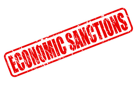 budget restrictions: ECONOMIC SANCTIONS red stamp text on white