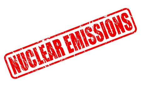 NUCLEAR EMISSIONS red stamp text on white