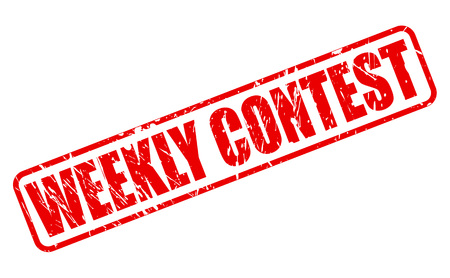 weekly: Weekly contest red stamp text on white Stock Photo