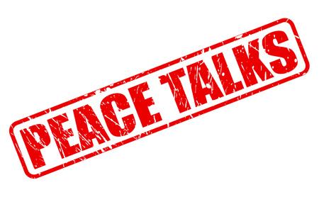 conversaciones: Conversaciones de paz texto del sello rojo sobre blanco