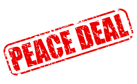 truce: PEACE DEAL red stamp text on white