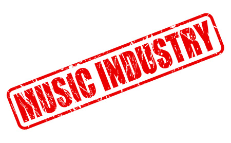 talented: MUSIC INDUSTRY red stamp text on white