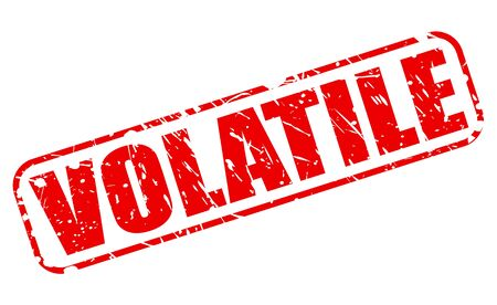 volatile: VOLATILE red stamp text on white Stock Photo