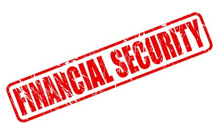 financial security: FINANCIAL SECURITY red stamp text on white Stock Photo