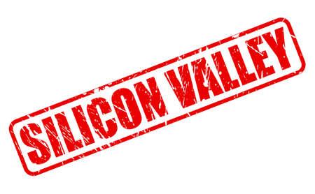 silicio: SILICON VALLEY texto del sello rojo sobre blanco