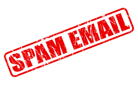 recipient: SPAM EMAIL red stamp text on white Stock Photo