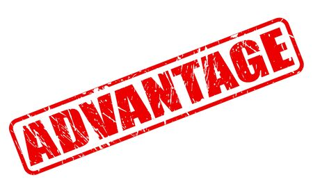 ADVANTAGE RED STAMP TEXT ON WHITE
