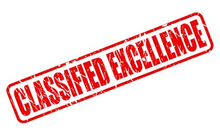 distinguish: Classified excellence red stamp text on white Stock Photo