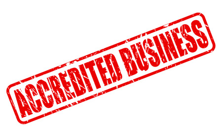 accredited: ACCREDITED BUSINESS RED STAMP TEXT ON WHITE