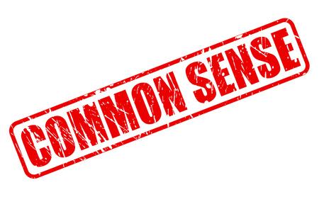 common sense: COMMON SENSE red stamp text on white
