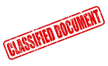 concealed: CLASSIFIED DOCUMENT red stamp text on white