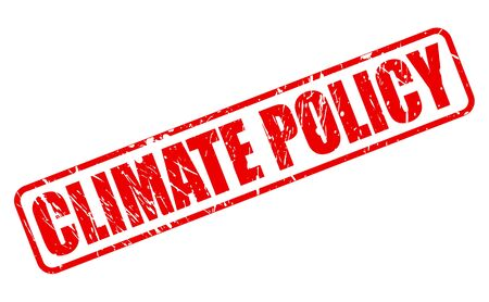 climate: CLIMATE POLICY red stamp text on white
