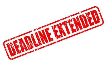 DEADLINE EXTENDED red stamp text on white