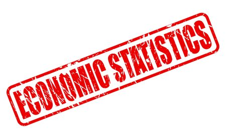 budgetary: ECONOMIC STATISTICS red stamp text on white