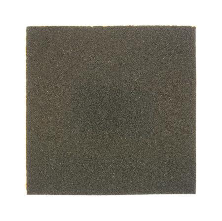 emery: Sandpaper isolated on white background