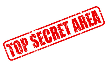TOP SECRET AREA RED STAMP TEXT ON WHITE