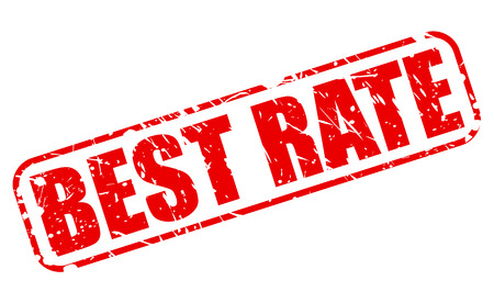 appraise: BEST RATE RED STAMP TEXT ON WHITE
