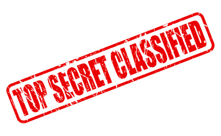 assort: TOP SECRET CLASSIFIED RED STAMP TEXT ON WHITE Stock Photo
