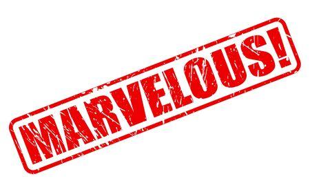marvelous: MARVELOUS red stamp text on white
