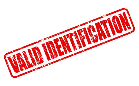 canonical: VALID IDENTIFICATION RED STAMP TEXT ON WHITE