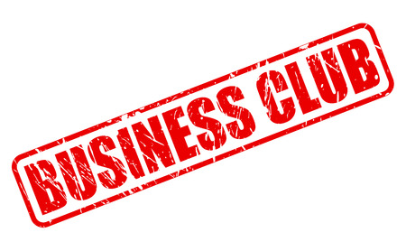 patronage: BUSINESS CLUB red stamp text on white