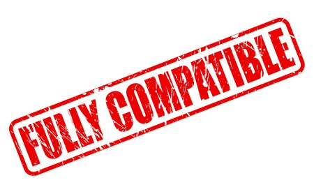 compatible: FULLY COMPATIBLE red stamp text on white