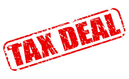 levy: TAX DEAL red stamp text on white