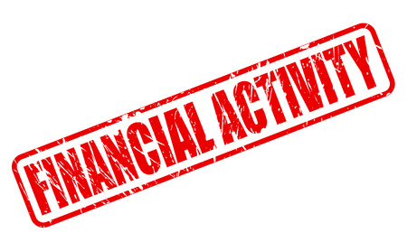 moneyed: FINANCIAL ACTIVITY RED STAMP TEXT ON WHITE Stock Photo