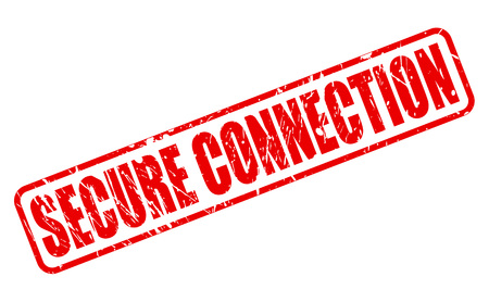 liaison: SECURE CONNECTION red stamp text on white Stock Photo