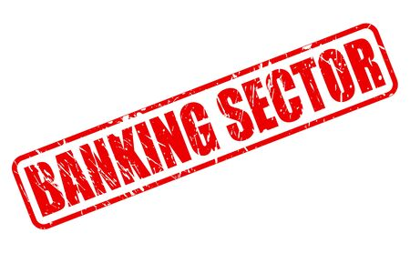 sector: BANKING SECTOR red stamp text on white