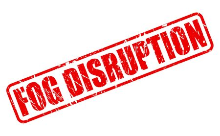 disruptive: FOG DISRUPTION red stamp text on white Stock Photo