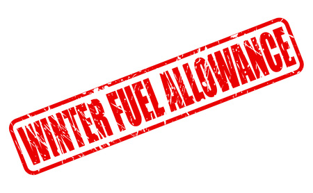 allowance: WINTER FUEL ALLOWANCE red stamp text on white