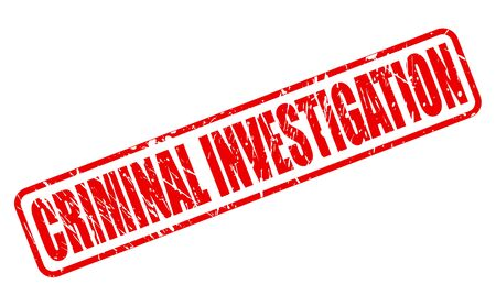criminal: CRIMINAL INVESTIGATION red stamp text on white Stock Photo