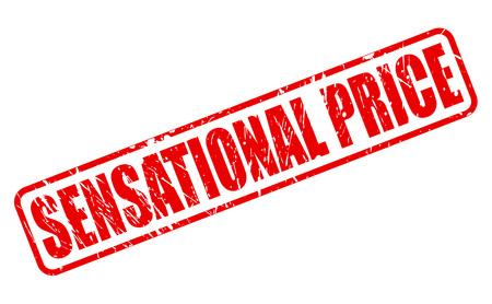 sensational: Sensational price red stamp text on white