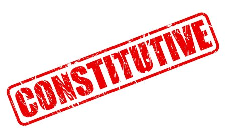 constitutive: CONSTITUTIVE red stamp text on white Stock Photo