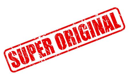 original: SUPER ORIGINAL red stamp text on white