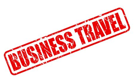 red stamp: BUSINESS TRAVAL red stamp text on white