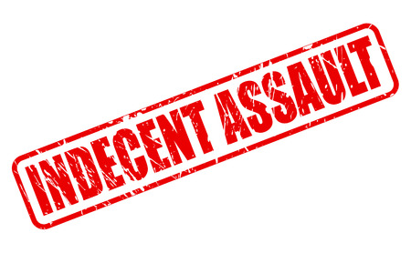 assault: INDECENT ASSAULT red stamp text on white
