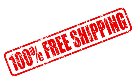 portage: 100 PERCENT FREE SHIPPING RED STAMP TEXT ON WHITE