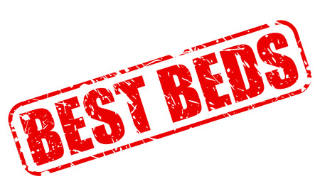 bedstead: BEST BEDS RED STAMP TEXT ON WHITE