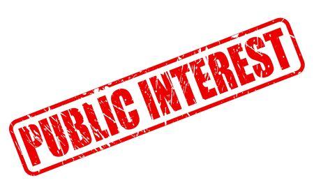 interest: PUBLIC INTEREST red stamp text on white