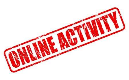 nosey: ONLINE ACTIVITY red stamp text on white