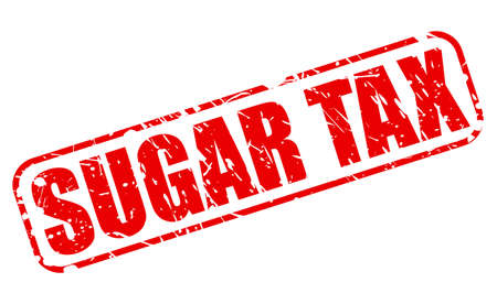 toll free: SUGAR TAX red stamp text on white