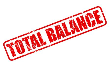 equipoise: TOTAL BALANCE RED STAMP TEXT ON WHITE