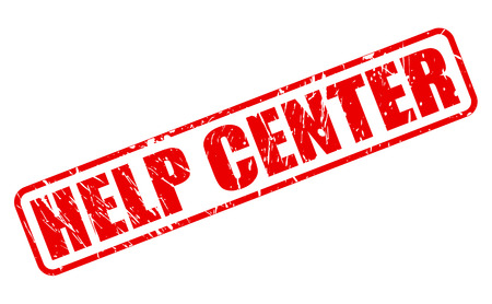 help center: HELP CENTER RED STAMP TEXT ON WHITE