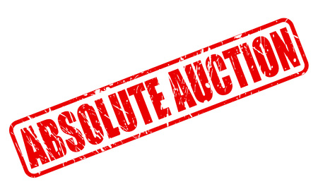 absolute: ABSOLUTE AUCTION RED STAMP TEXT ON WHITE