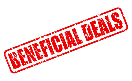 beneficial: BENEFICIAL DEALS RED STAMP TEXT ON WHITE