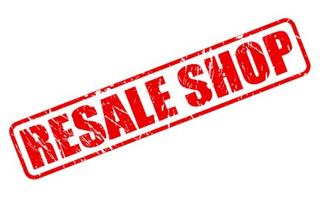 resale: RESALE SHOP RED STAMP TEXT ON WHITE