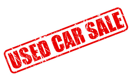 treason: USED CAR SALE RED STAMP TEXT ON WHITE Stock Photo
