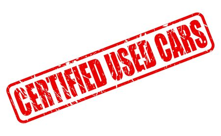 used stamp: CERTIFIED USED CARS RED STAMP TEXT ON WHITE